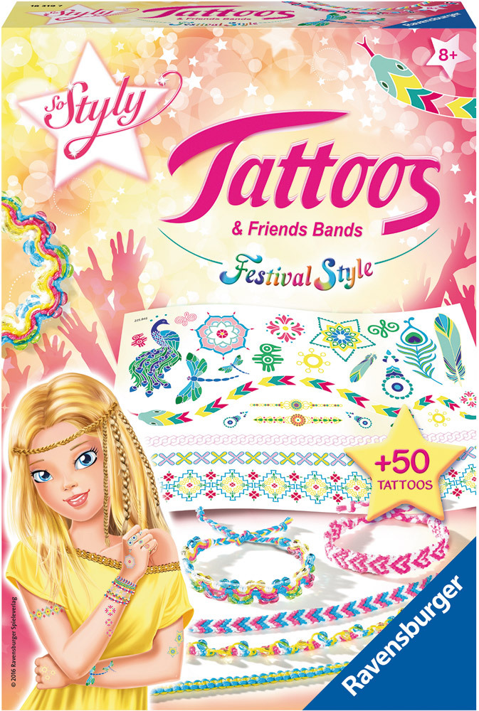 Basteln Tattoos & Friends Bands - Festival Style