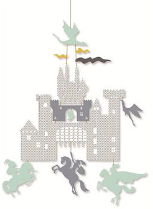 Djeco mobile castle and dragons mobile f r babys - Schardt mobel ...