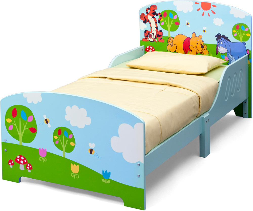 delta kids holz kinderbett disney winnie pooh kinderbett 70 x 140 jetzt online kaufen. Black Bedroom Furniture Sets. Home Design Ideas