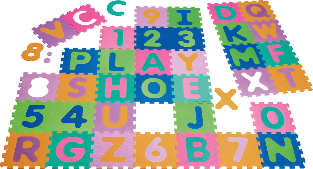 playshoes schaumstoff spielzeug puzzle mathe zahlen und buchstaben puzzlematten jetzt online. Black Bedroom Furniture Sets. Home Design Ideas