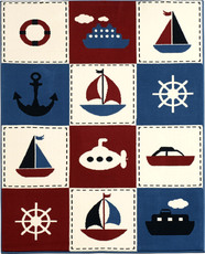 Hanse Home Design Velours Teppich Nautic Patchwork