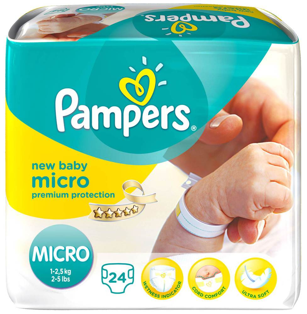 Pampers Micro  Micro Sparpaket, 6 x 24 Stück