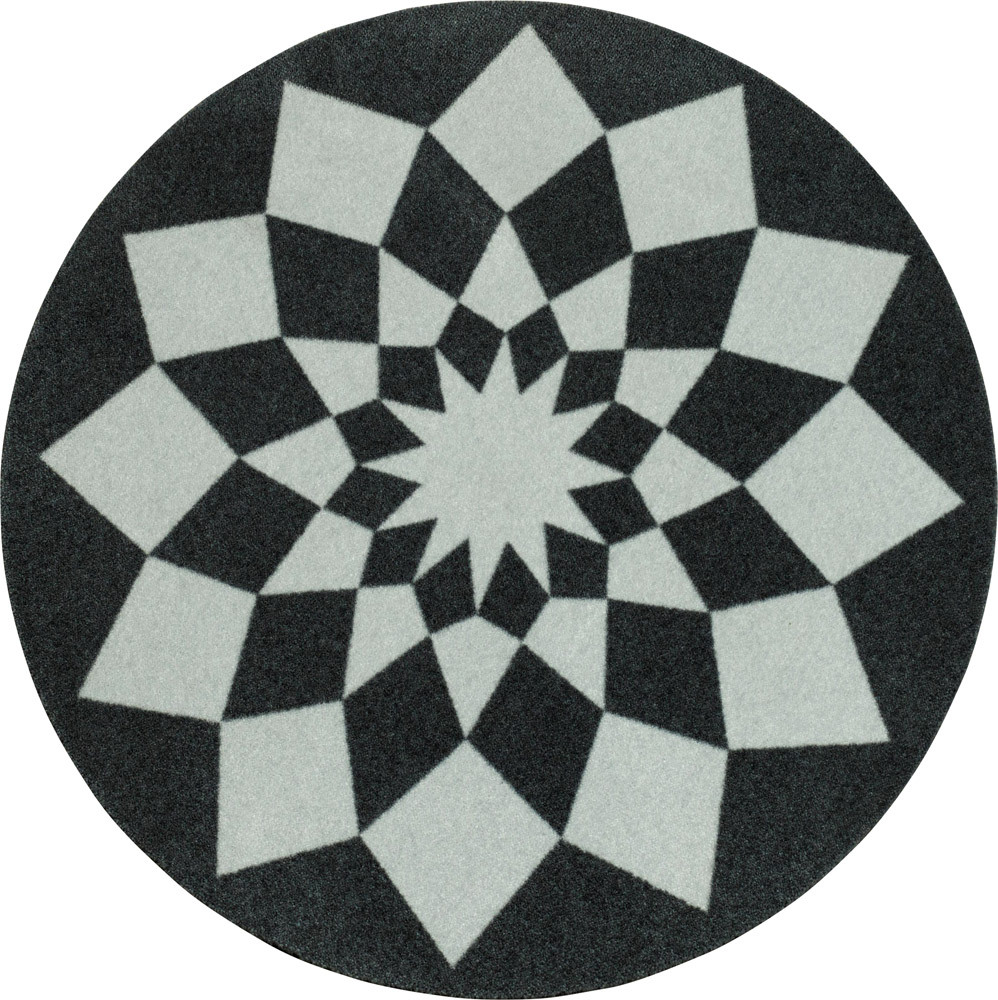 Velours Teppich tribal triangles