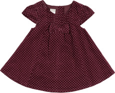 name it Cord-Kleid gepunktet lila