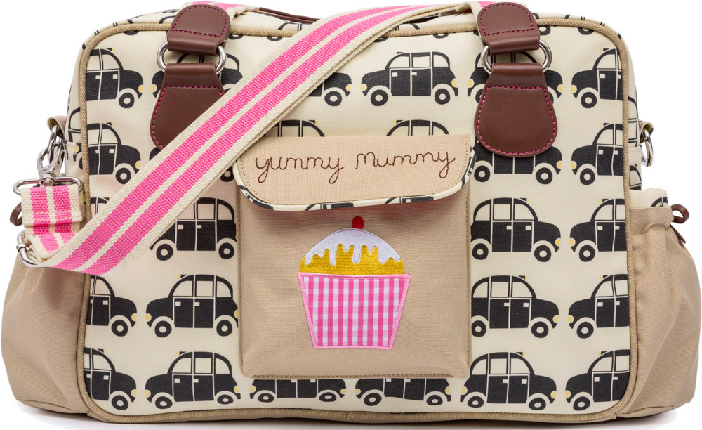 Pink Lining Wickeltasche Yummy Mummy  London Cabs (16AW358-BLKCABS-BNP)