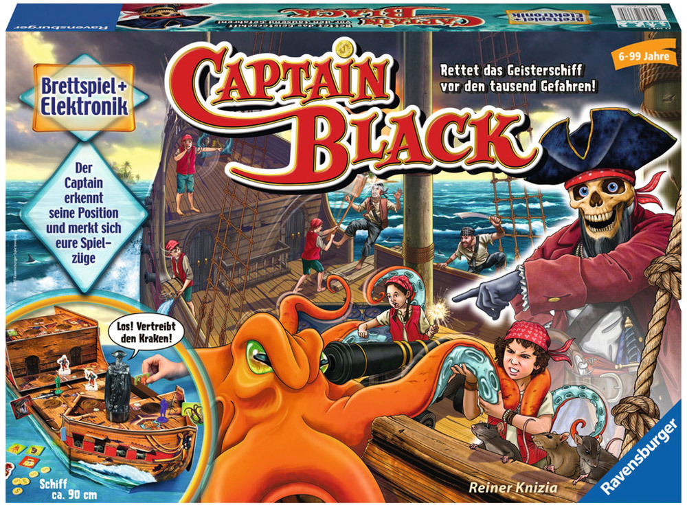 ravensburger lustige kinderspiele captain black brettspiele jetzt online kaufen. Black Bedroom Furniture Sets. Home Design Ideas