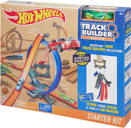 hot wheels hot wheels track builder super starter set. Black Bedroom Furniture Sets. Home Design Ideas