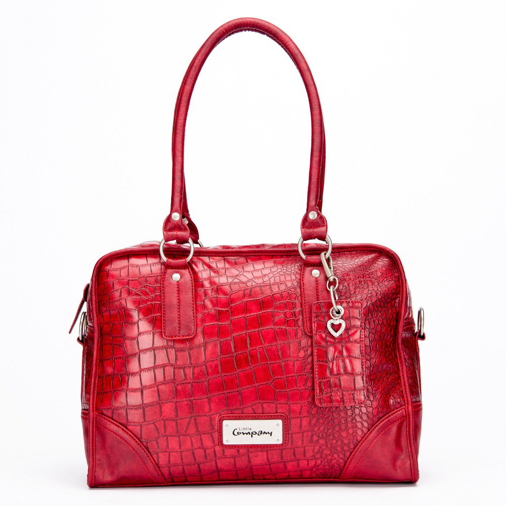 Little Company Wickeltasche Black Label Croco Shoulder Bag  red (BL-CR01.R)