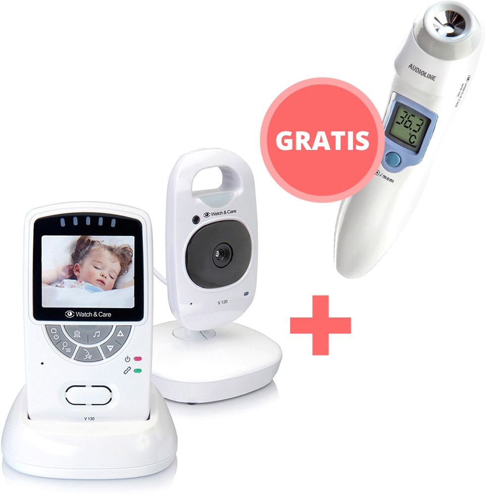 Babyphone Watch & Care V130 + gratis Infrarot-Fieberthermometer