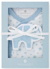 bellybutton Schlafstrampler und Knistertier light blue