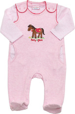 Baby Glück by Salt & Pepper Set Strampler + Langarmshirt Pony