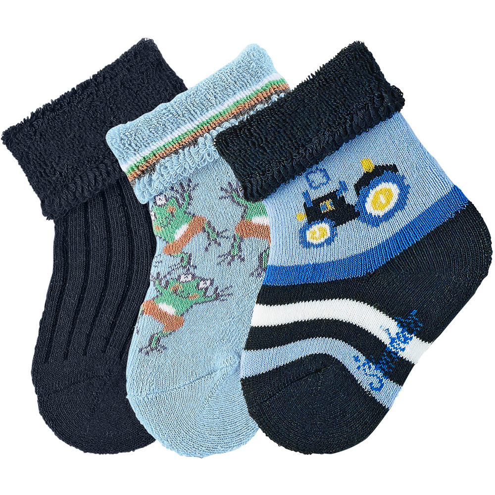 sterntaler 3er pack socken fr sche traktor uni babysocken jetzt online kaufen. Black Bedroom Furniture Sets. Home Design Ideas