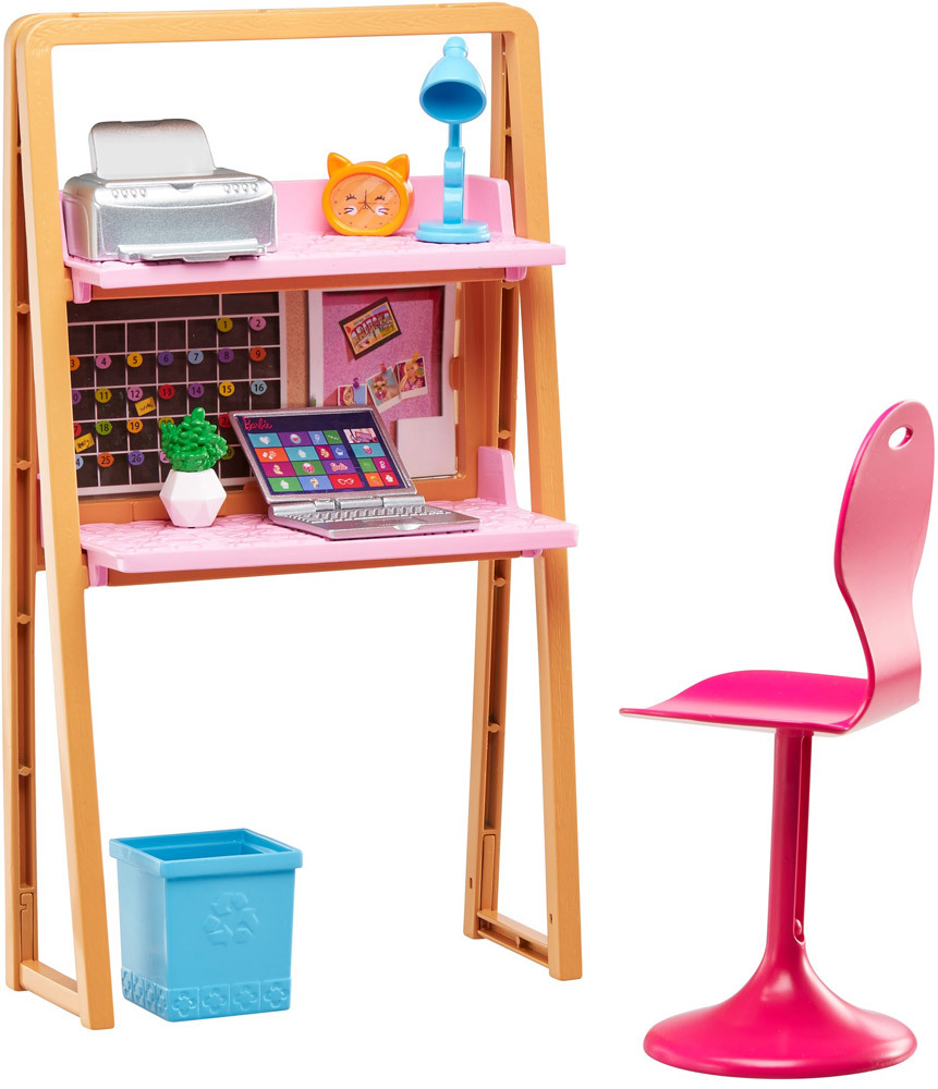 barbie m bel arbeitszimmer puppe barbie jetzt online kaufen. Black Bedroom Furniture Sets. Home Design Ideas