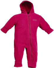 BMS Antarctic Fleece Baby Kapuzenoverall  Cranberry