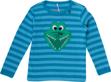 Fred's World Langarmshirt Krokodil gestreift