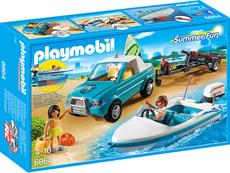 PLAYMOBIL®  Summer Fun - 6864 - Surfer-Pickup mit Speedboat