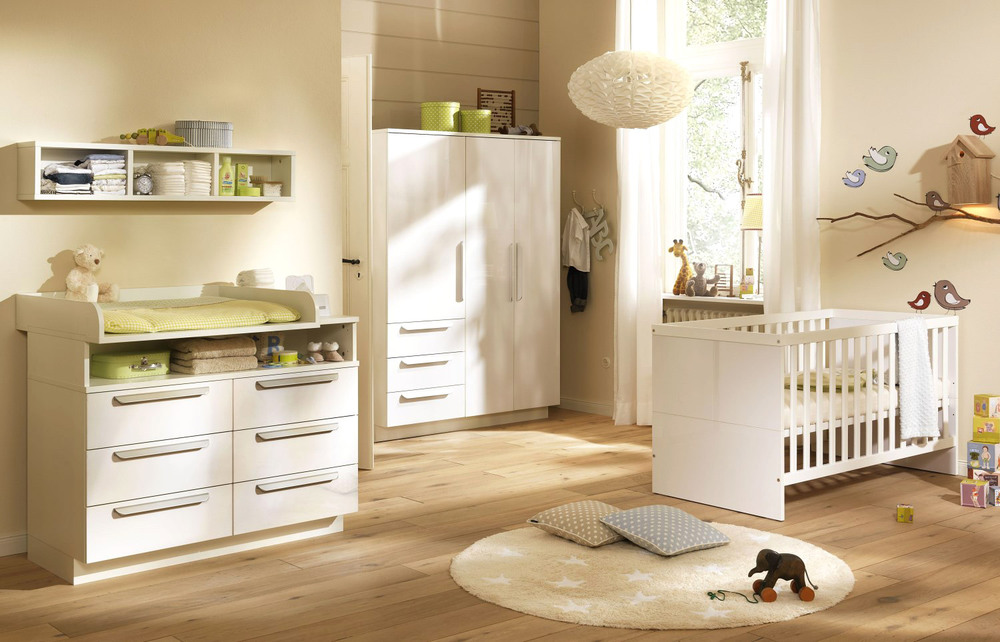 wellem bel kinderzimmer milla hochglanz 3 teiliges babyzimmer jetzt online kaufen. Black Bedroom Furniture Sets. Home Design Ideas