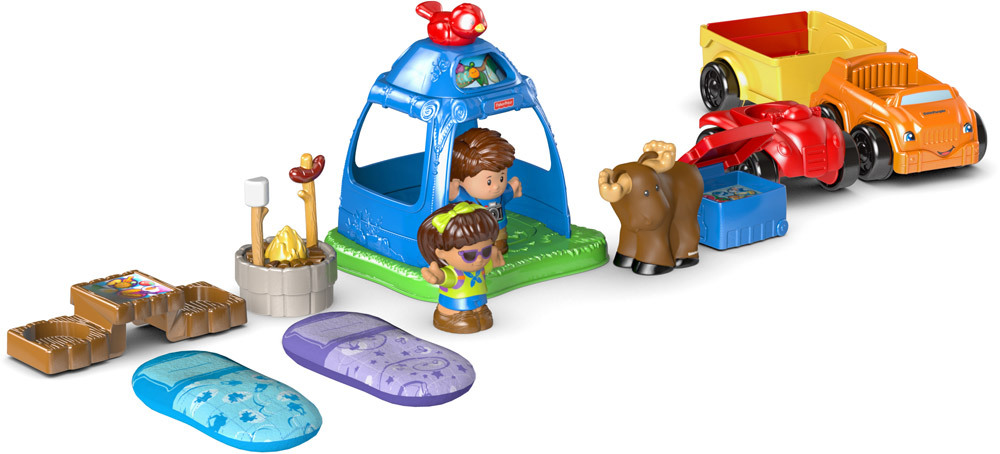 Fisher price little people camping set spielzeugautos