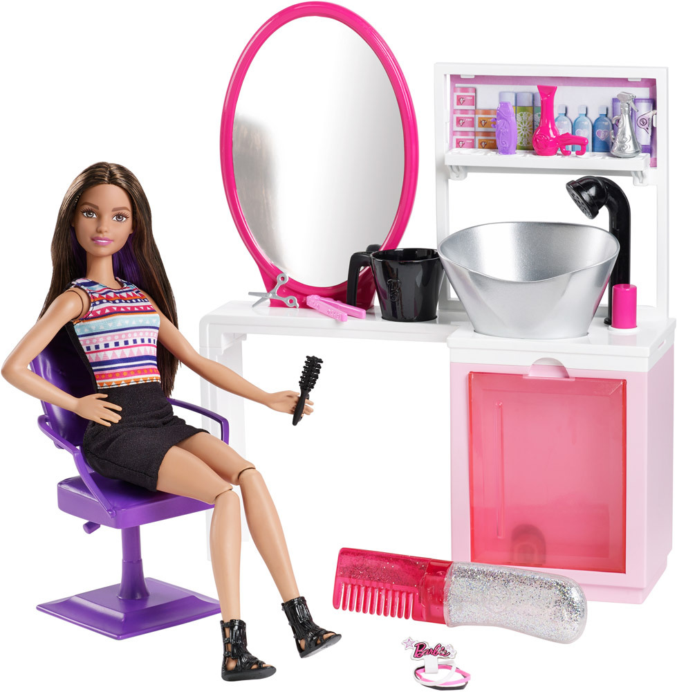Glitzer-Salon Barbie Puppe