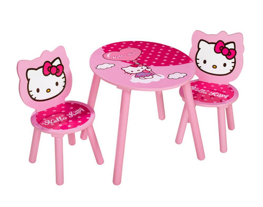 eichhorn hello kitty tisch und stuehle kindersitzgruppe jetzt online kaufen. Black Bedroom Furniture Sets. Home Design Ideas