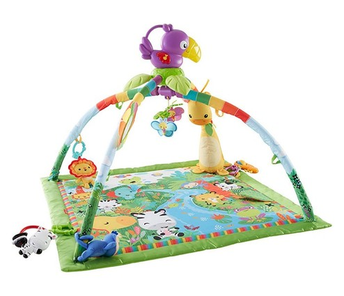 Tapis d 39 veil animaux de la jungle fisher price 0m tapis d 39 veil - Tapis animaux de la jungle ...