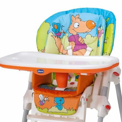 Housse Chaise Haute Chicco Polly 2 En 1 Happy Land