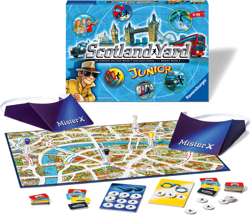 ravensburger lustige kinderspiele scotland yard junior jetzt online kaufen. Black Bedroom Furniture Sets. Home Design Ideas