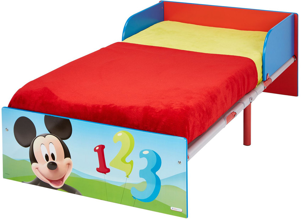 worlds apart kinderbett 140x70 cm mdf metall mit canvas unterliege mickey jetzt online. Black Bedroom Furniture Sets. Home Design Ideas