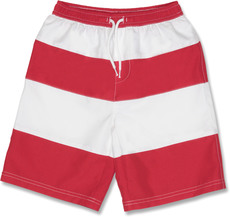 Snapperrock UV-Schutz Badeshorts Red Stripes