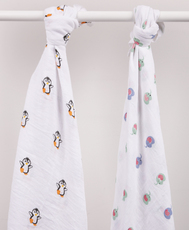 Dimbo world Mulltuch Pinguin Pippo & Elefant Ellie