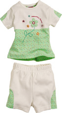 "Schnizler Set aus Kurzarmshirt und Hose ""beautiful flower"""