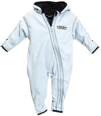 BMS Antarctic Fleece Baby Kapuzenoverall Skyblue