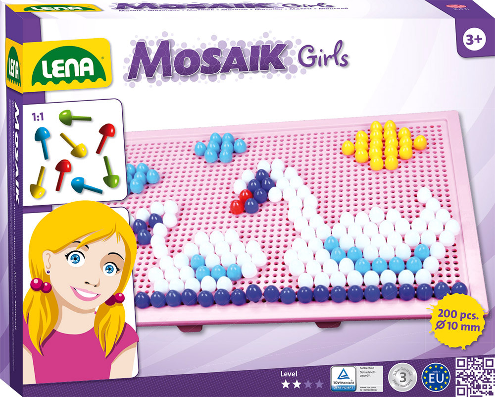 ® Mosaik Set Color 10 mm, groß Girls (35611)