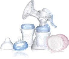 Nuby Natural Touch Hand-Brustpumpen Set