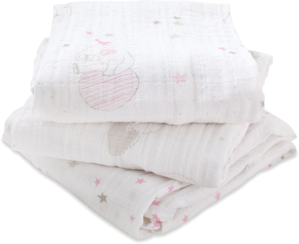 aden+anais Muslin Multi-Use Cloth  Lovely, 3 Stück (7205)