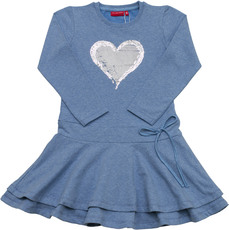 Salt & Pepper Jersey Kleid - Herz
