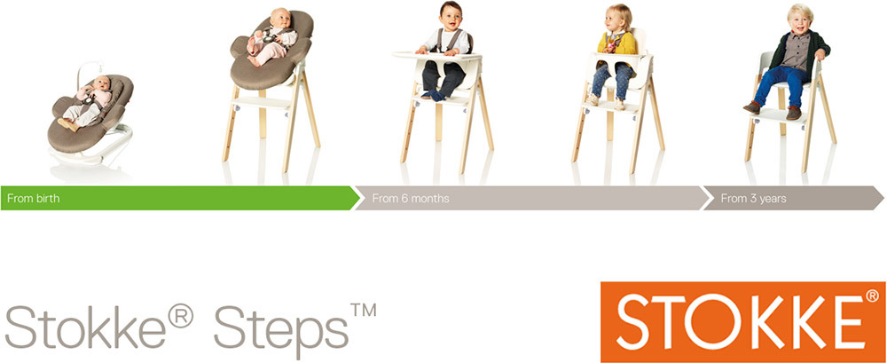 stokke steps stuhl treppenhochstuhl jetzt online kaufen. Black Bedroom Furniture Sets. Home Design Ideas