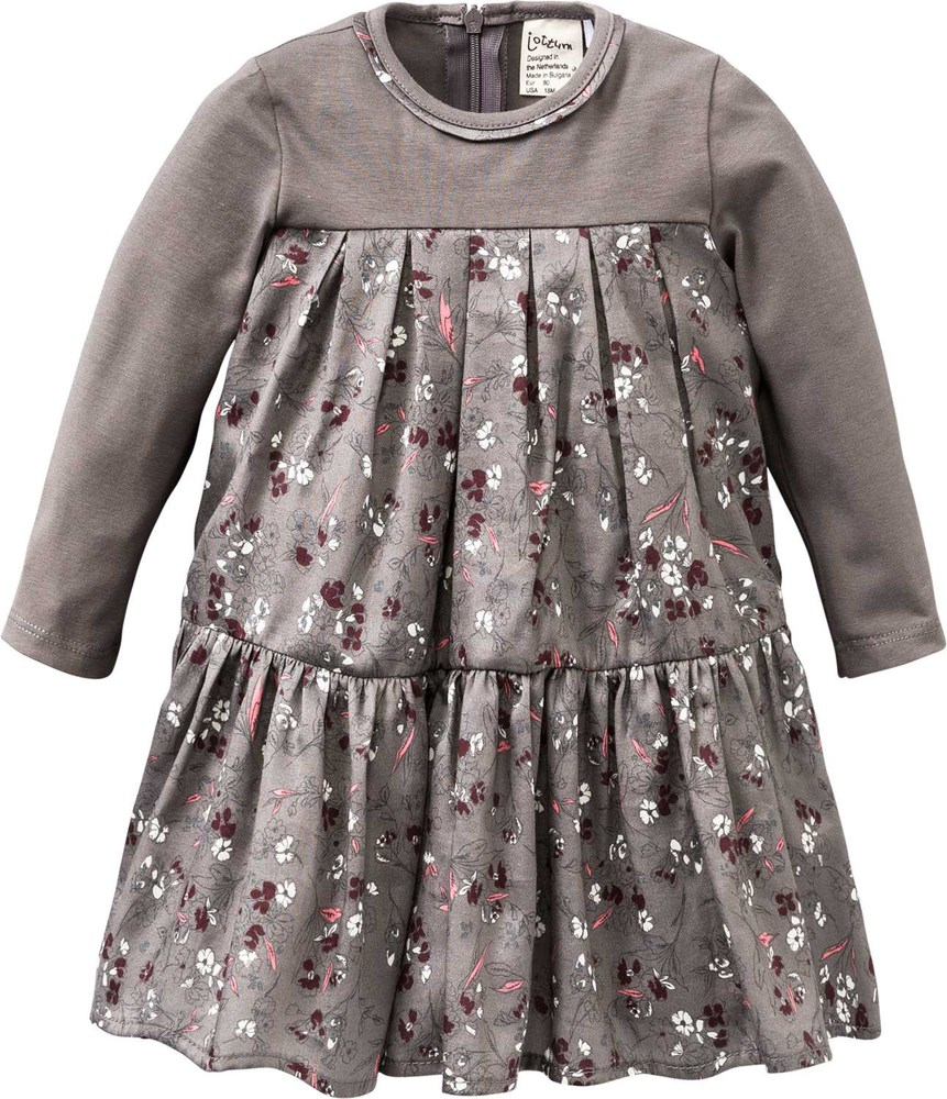 Jottum Langärmliges Kleid SANNE 92 grey kitten