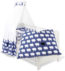 Pinolino Textil-Set für Kinderbett 4-teilig Happy Sheep