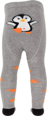 Dimbo world Strumpfhose Pinguin Pipo grau orange