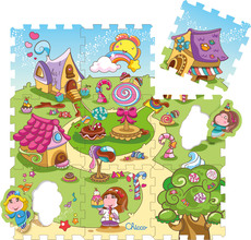 Chicco Puzzlematte Candy