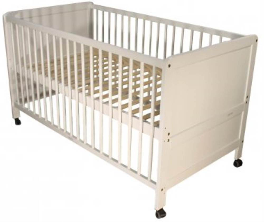 kuli muli kinderbett elias weiss inkl rollen babybett jetzt online kaufen. Black Bedroom Furniture Sets. Home Design Ideas
