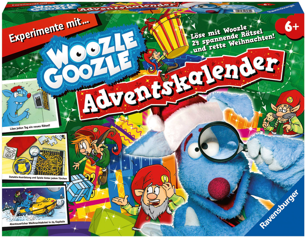 ravensburger woozle goozle woozle goozle adventskalender. Black Bedroom Furniture Sets. Home Design Ideas