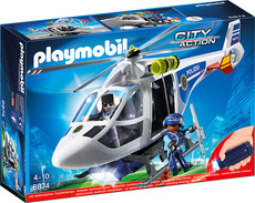 PLAYMOBIL®  City Action - 6874 - Polizei-Helikopter mit LED-Suchscheinwerfer