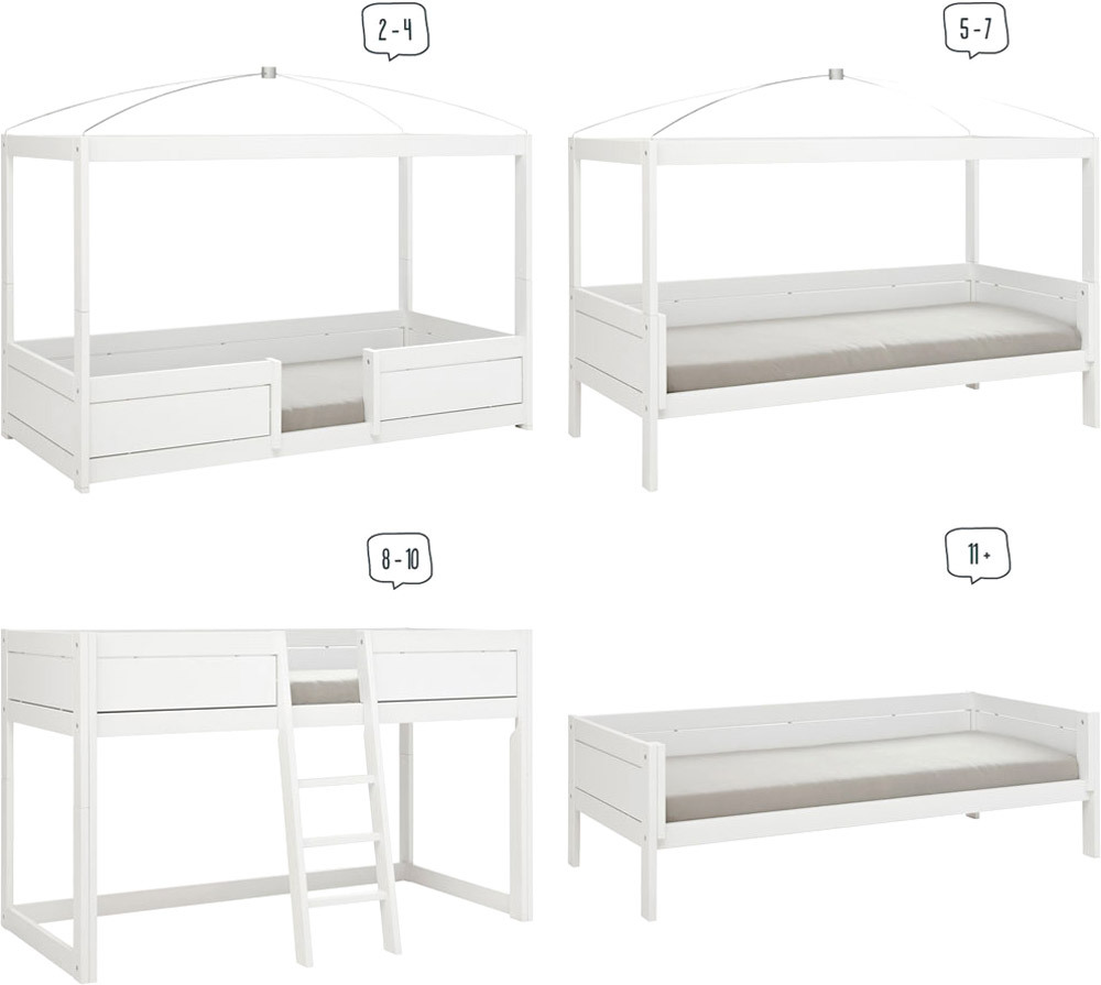 lifetime kinderbett 4in1 mit rollboden jugendbett jetzt online kaufen. Black Bedroom Furniture Sets. Home Design Ideas