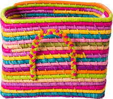 Rice Small Square Raffia Basket