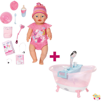 aktion zapf creation baby born interactive mit badewanne puppen jetzt online kaufen. Black Bedroom Furniture Sets. Home Design Ideas