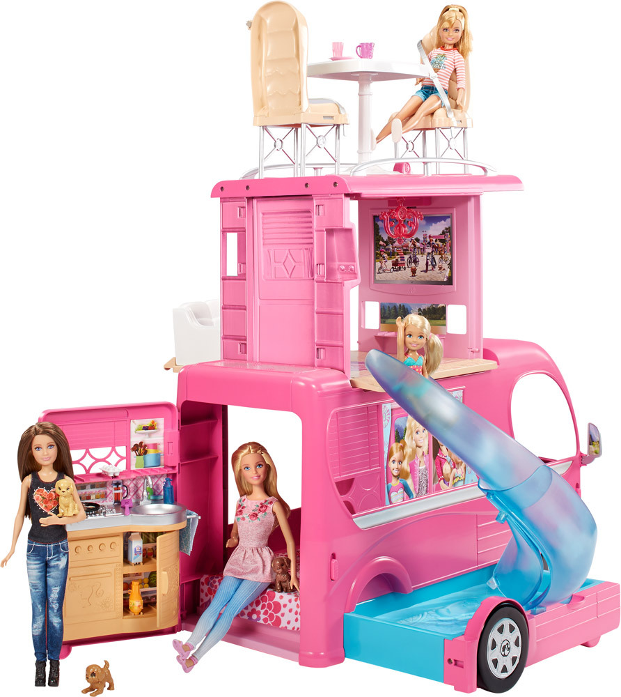 barbie super ferien camper puppenhaus jetzt online. Black Bedroom Furniture Sets. Home Design Ideas