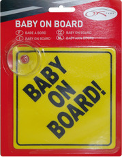 Kaufmann Auto-Schild 'Baby on Board'