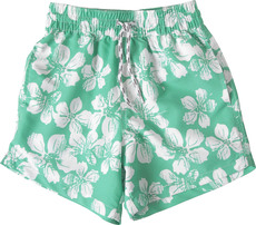 Snapperrock UV-Schutz Badeshorts Green Flower